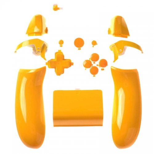Xbox One Button Set - Polished Yellow Left/Right Back Panel + Battery Pack + D-PAD + RT LT + RB LB + ABXY Guide + Start Back Sync