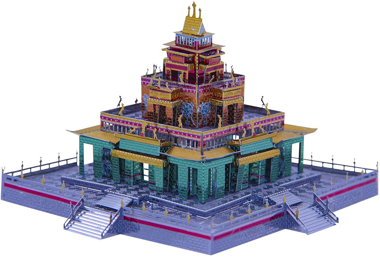 Microworld 3D Puzzle Metal Model Building Kit Famous Architecture Tibetan Buddhist Temple DIY Laser Cut Jigsaw for Adult