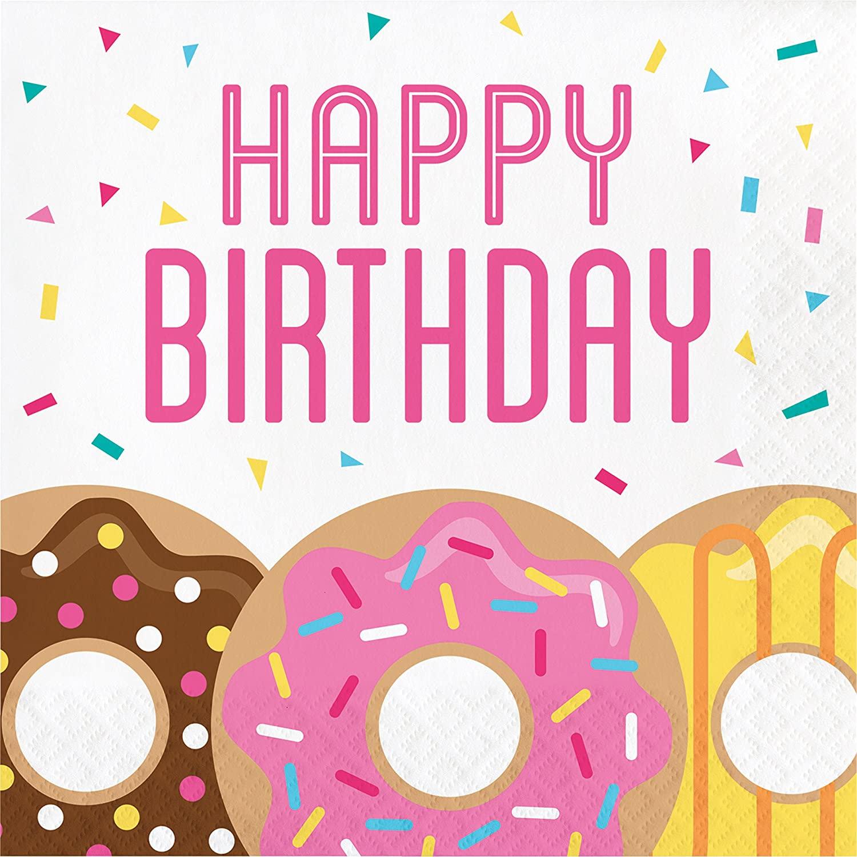 Donut Time Birthday Napkins, 48 ct