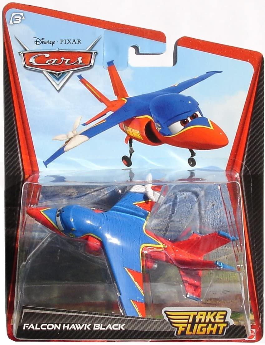 Mattel Disney Cars Take Flight Falcon Hawk Black Diecast Car