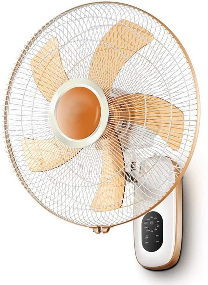 Practical Electric Fan, Wallmounted Fan, Home Silent Desktop Wall Fan, Industrial Shaking Head Fan. Energy Saving Fan for Living Room Bedroom Office, BOSS LV