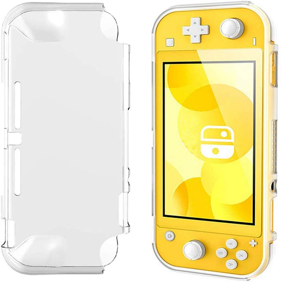 AKNES Case Cover Nintendo Switch Lite Case, Slim Clear Soft TPU, Flexible Silicone Grip Cover Shockproof Durable Frosted Shell for Nintendo Switch Lite (2019), Clear