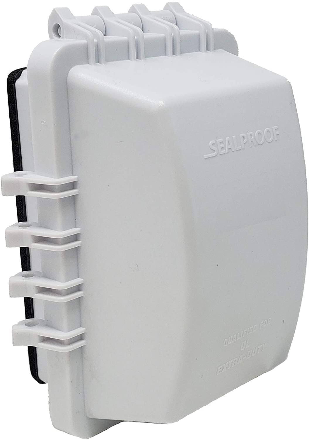 Sealproof 1-Gang Weatherproof In Use Outlet Cover   One Gang Outdoor Plug and Receptacle Protector, Lockable, UL Extra Duty Compliant, 18 Configurations