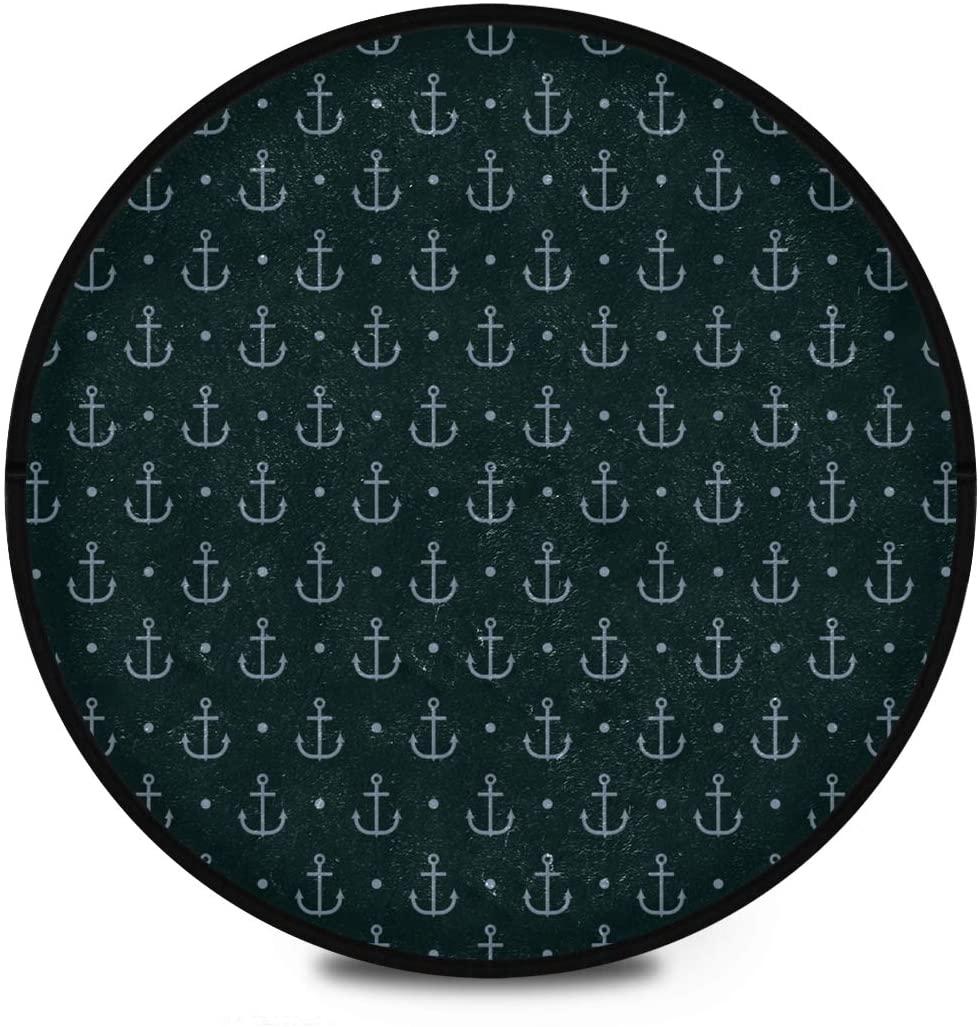 Shaggy Round Mat Sea Lifestyle Round Rug for Kids Bathroom Anti-Slip Rug Room Carpets Play Mat