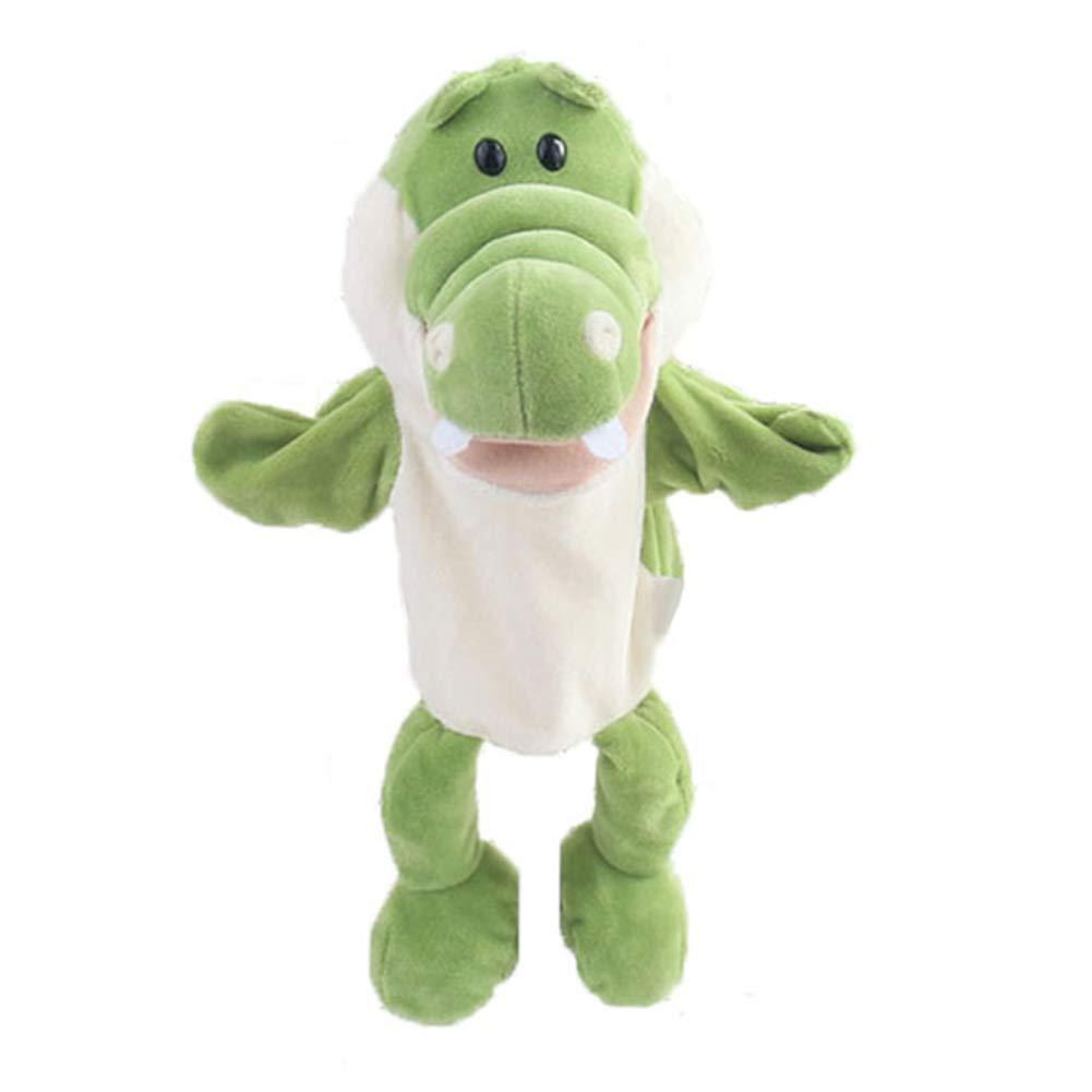 Maserfaliw Cute Cartoon Alligator Crocodile Kids Hand Puppet Soft Doll Stuffed Plush Toy Home Decor Educational Toys Birthday Gift
