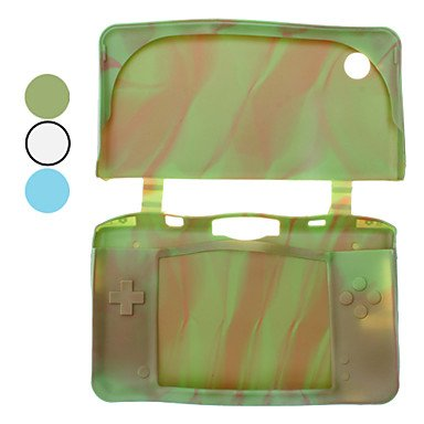 NEW-Protective Camouflage Silicon Case for Nintendo DSi XL/LL (Assorted Colors) , Blue