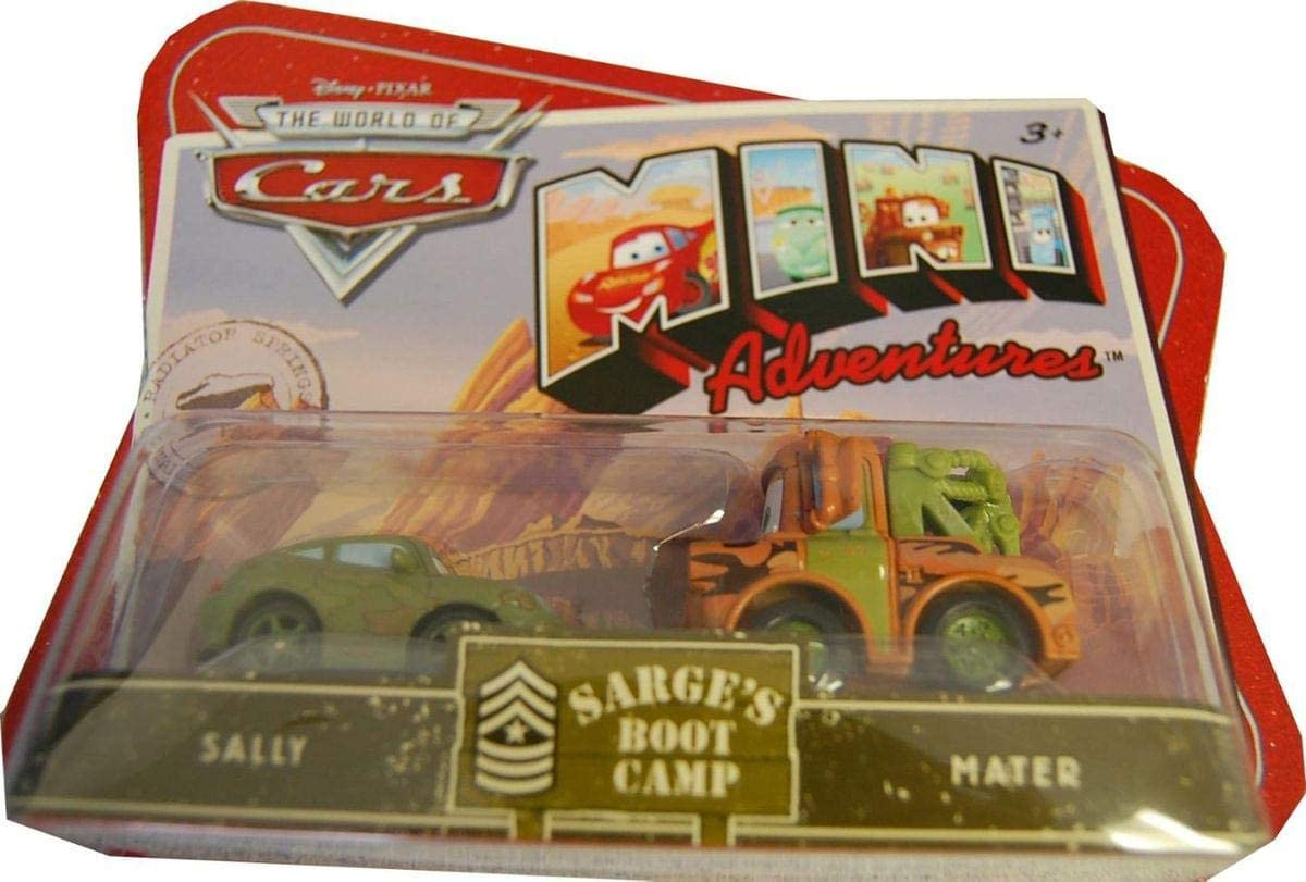 Disneys Pixar Cars Mini Adventures 2 Pk Sarges Boot Camp Sally and Mater