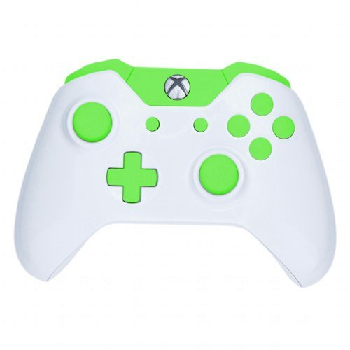 ModFreakz® Shell Kit Arctic White/Green For Xbox One Model 1537 Controllers
