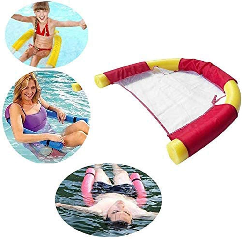RZiioo Floating Chairs for Swimming Pool Floating Noodle Chair for Water Mesh U-Seat Flexible Portable Swimming Pool Float for Kids Adult