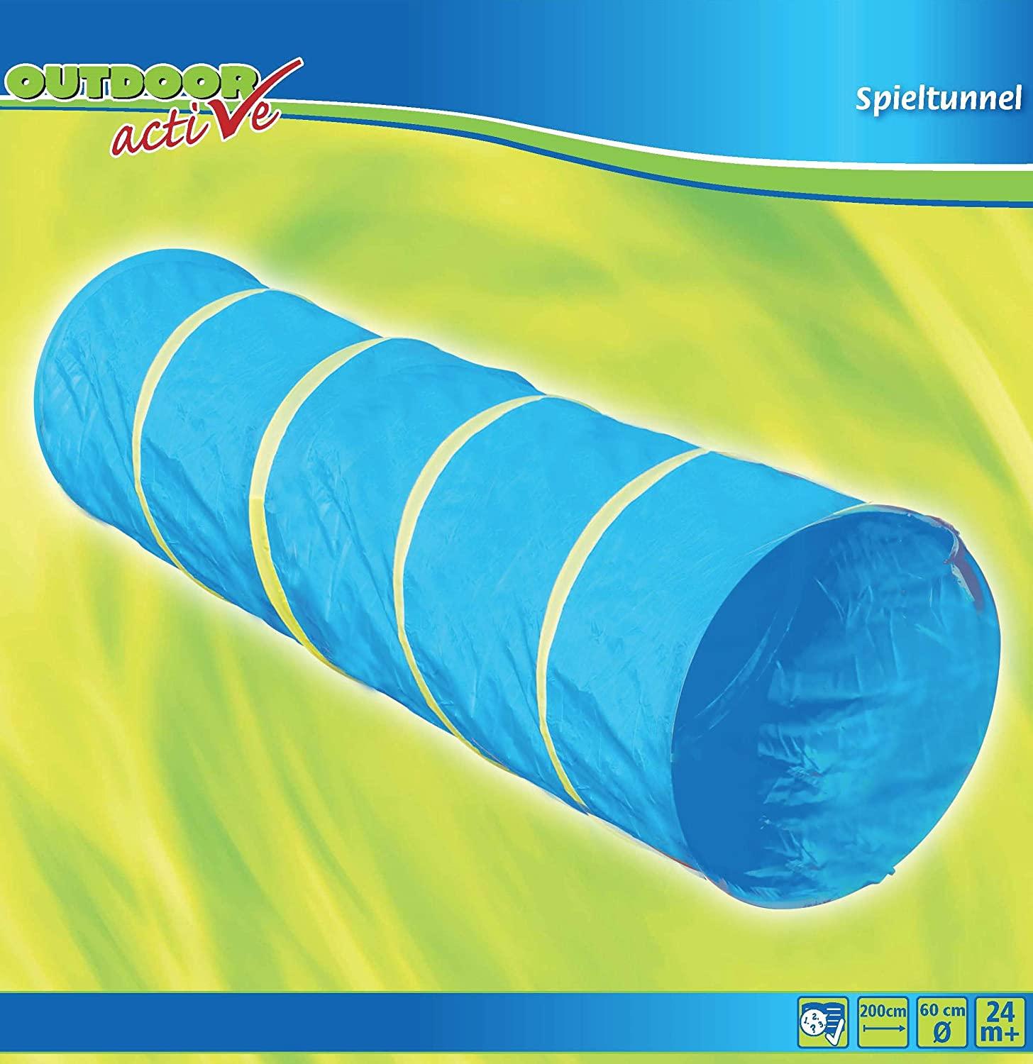 The Toy Company Outdoor Active Play Tunnel, Blue, 60 X 200 cm