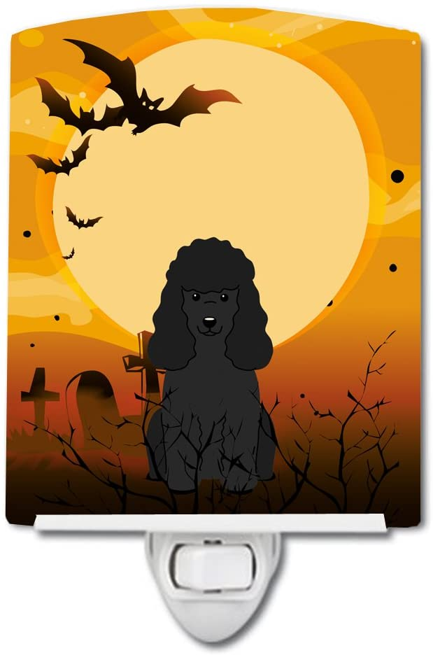 Caroline's Treasures BB4337CNL Halloween Poodle Black Ceramic Night Light, 6x4x3, Multicolor