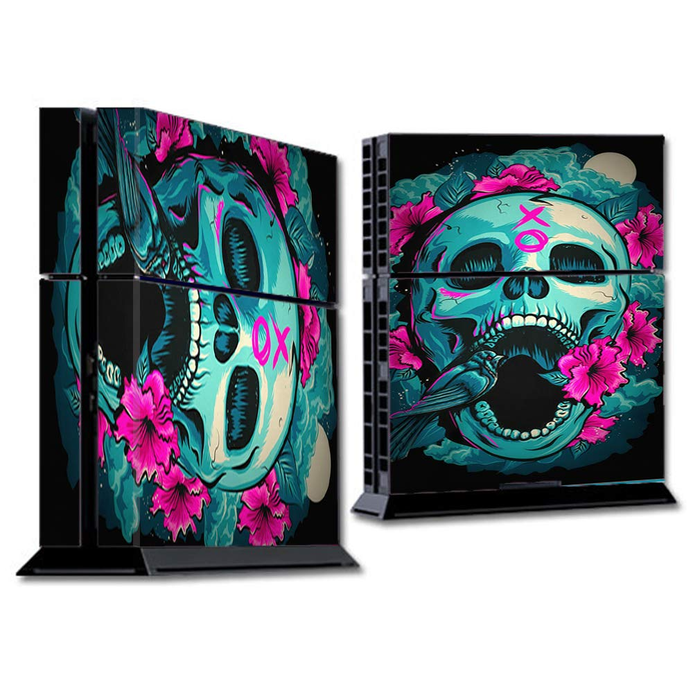 Skins Wrap for PS4 Sony Playstion Console - Protective Decal Overlay stickers skins cover - Skull Dia De Los Muertos Design Bird