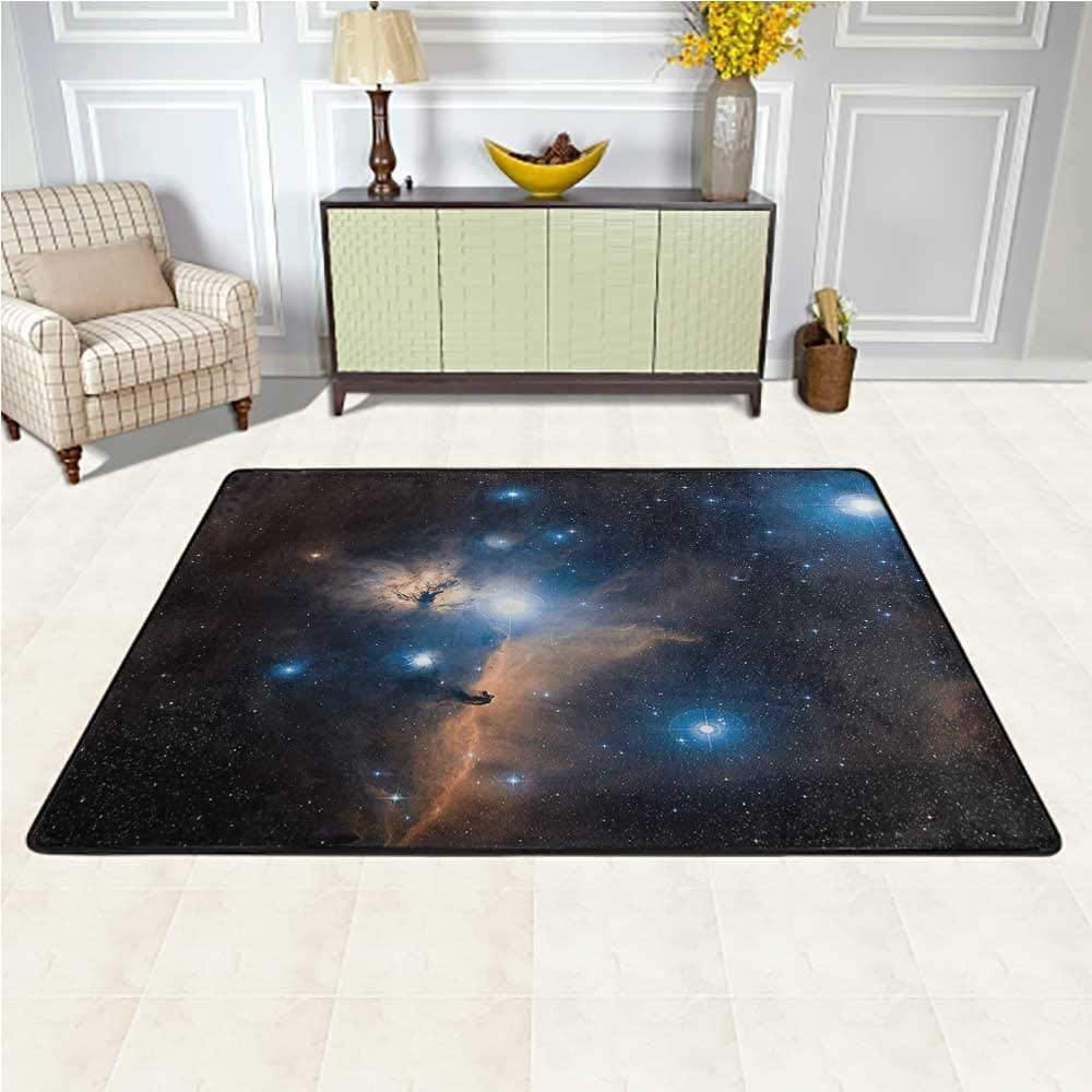 Carpet Outer Space, Celestial Mystery Theme Soft Carpet for Bedroom Living Room Girls Kids Nursery 4 x 4 Feet