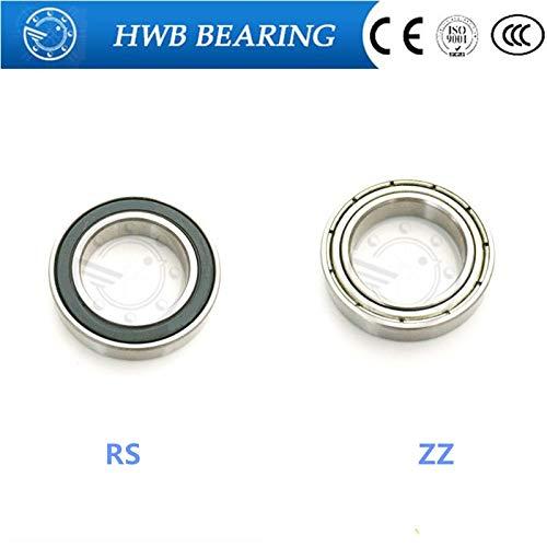 Ochoos 2pc Thin-Walled Deep Groove Ball Bearings 16005ZZ/16005RS 25478 mm - (Length: 16005ZZ)