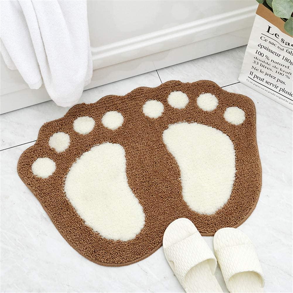 WE&ZHE Cute Doormat for Kids - Microfiber Absorbent Bathroom Mats - Front Door Mat Carpet Floor Rug,Bigfoot,D