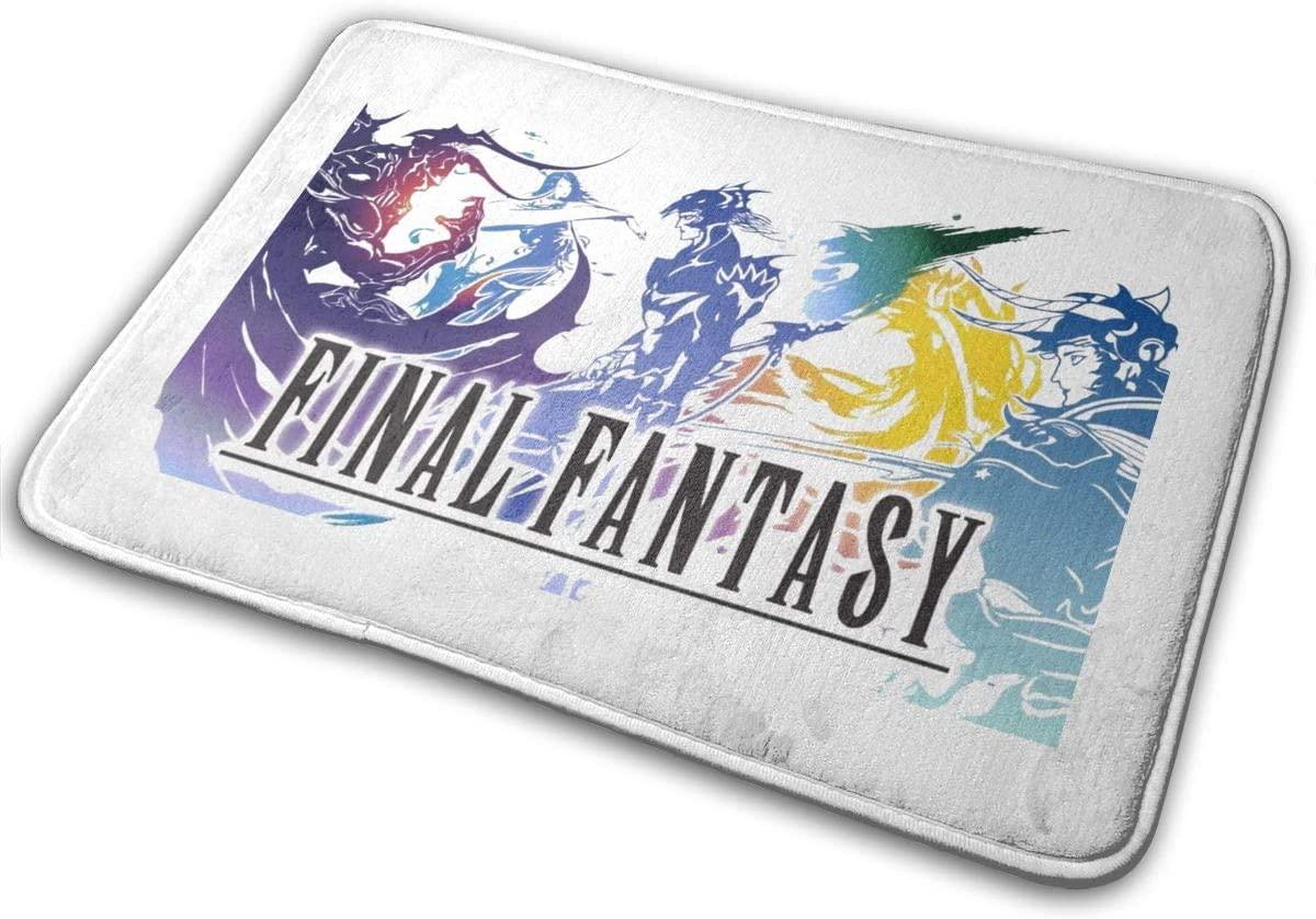 Final Fantasy Stylish Flannel Unique Print Floor Mat Indoor Outdoor Carpet 15.7