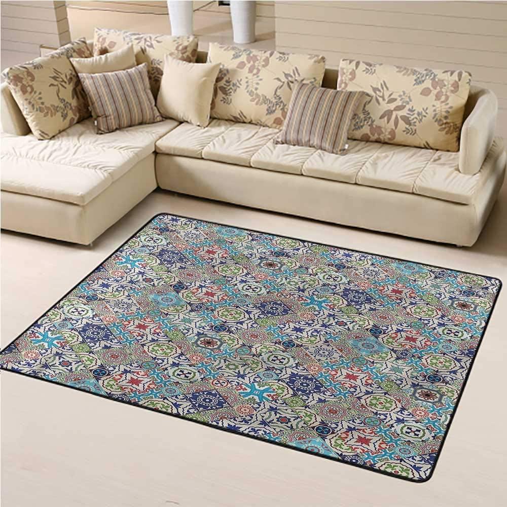 Carpet Moroccan, Colorful Floral Set Children Boys Girls Bedroom Rugs Home Bedrooms Floor Decorative 3 x 5 Feet
