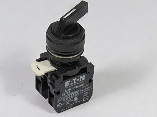 Cutler-Hammer E22VB51C Selector Switch 22mm 1NO 1NC 2-Pos Black Lever