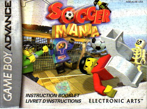 Soccer Mania GBA Instruction Booklet (Nintendo Gameboy Advance Manual ONLY - NO GAME) Pamphlet - NO GAME INCLUDED