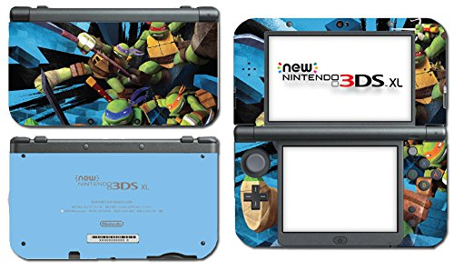 Teenage Mutant Ninja Turtles TMNT Leonardo Leo Shredder Cartoon Movie Video Game Vinyl Decal Skin Sticker Cover for the New Nintendo 3DS XL LL 2015 System Console
