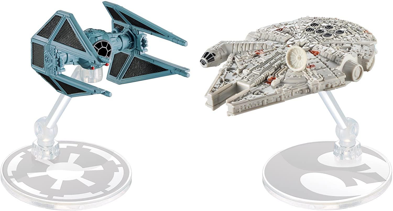 Hot Wheels Star Wars Starship Millennium Falcon vs Tie Bomber (2 Pack)