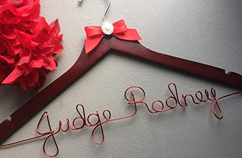 Flowershave357 Personalized Female Judge Hanger Makes a Great Gift to Hang her Robe on
