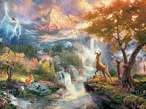 Ceaco Thomas Kinkade The Disney Collection Bambi Jigsaw Puzzle, 750 Pieces