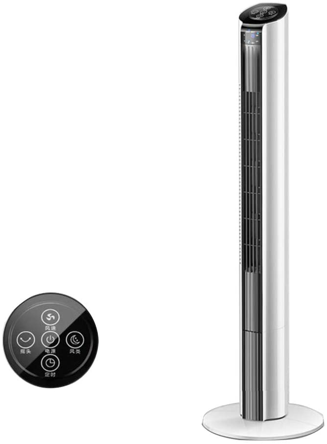 XM&LZ Oscillating Standing Tower Fan,Quiet Safety Bladeless Fan,Personal Space Evaporative Coolers Air Conditioner Fan,Remote Control Timing Remote Control