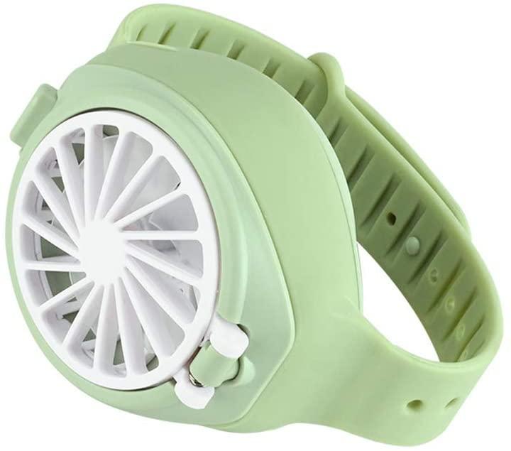 Small USB Personal Fan Rechargeable Handheld Fan,Portable Mini Watch Fan for Kids