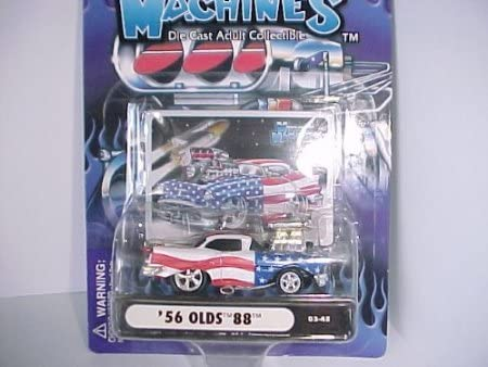 Dubblebla 2003 Muscle Machines '56 Olds 88 # 03-45 Stars and Stripes with Blower