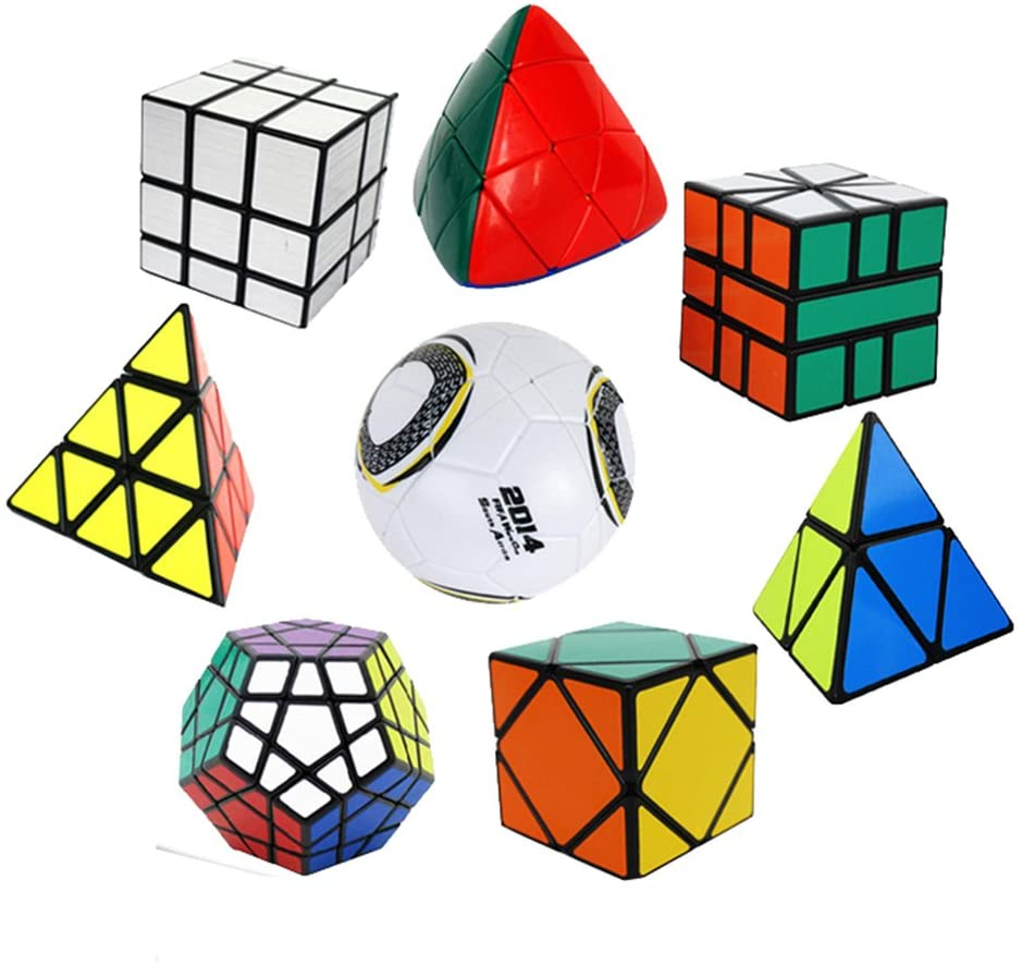 Irregular  Magic Cube Puzzle Speed Cube Set: S-quare-Mirror-Skewb-Megaminx-Pyraminx-Pyramorphix-Magic Ball Cube  Brain Teaser