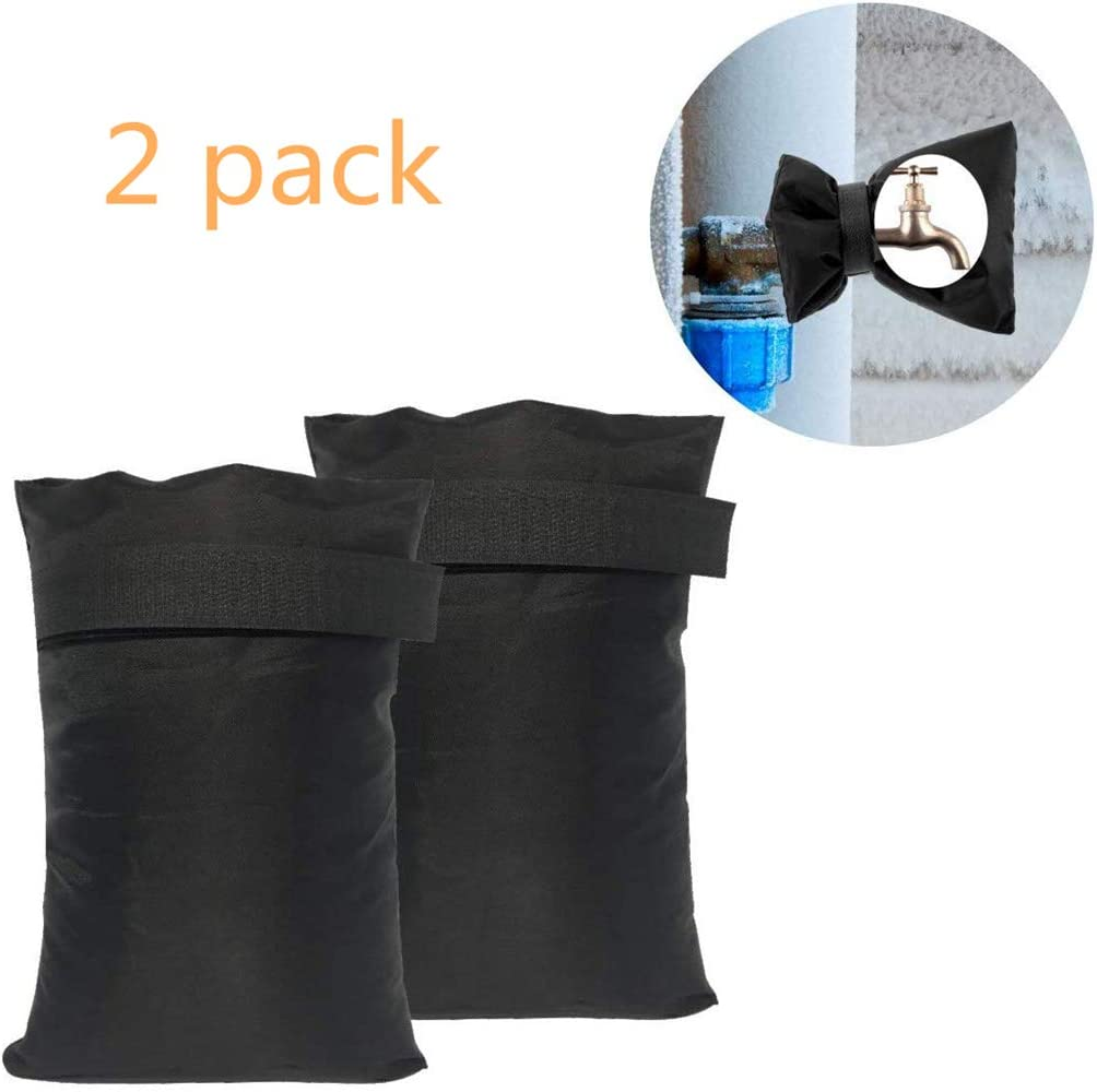 Smiley88 2 Pcs Outside Tap Covers for The Winter,Outdoor Garden Tap Protector from Frost - Protect Your Outside Garden Tap from Freezing(Black)