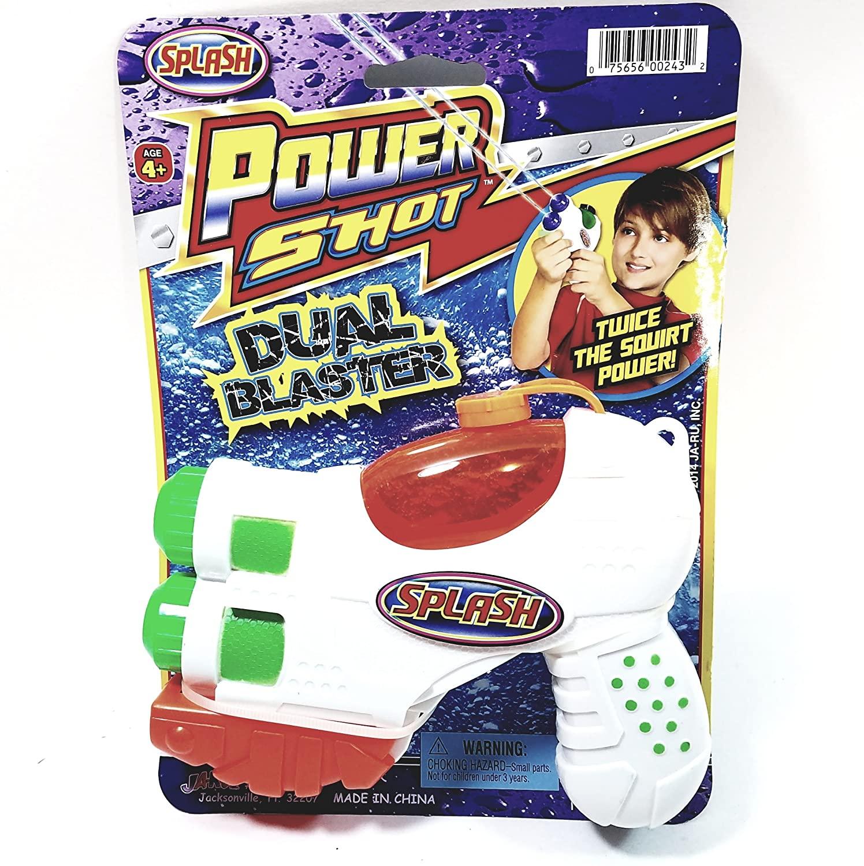 Splash Fun® Power Shot Dual Blaster Small Water Blaster/Gun Backyard/Pool/Bath Tub Toy