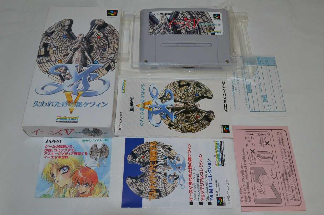 Ys V: Ushinawareta Sunano Miyako Kefin , Super Famicom (Super NES Japanese Import)
