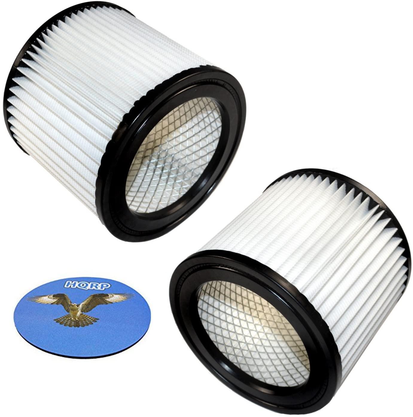 HQRP 2-pack Cartridge Filter for Shop-vac 2TM350A 3HM300A 5HM400 5HM450 5HM500 Wall Mount Wet Dry Vacuum + HQRP Coaster