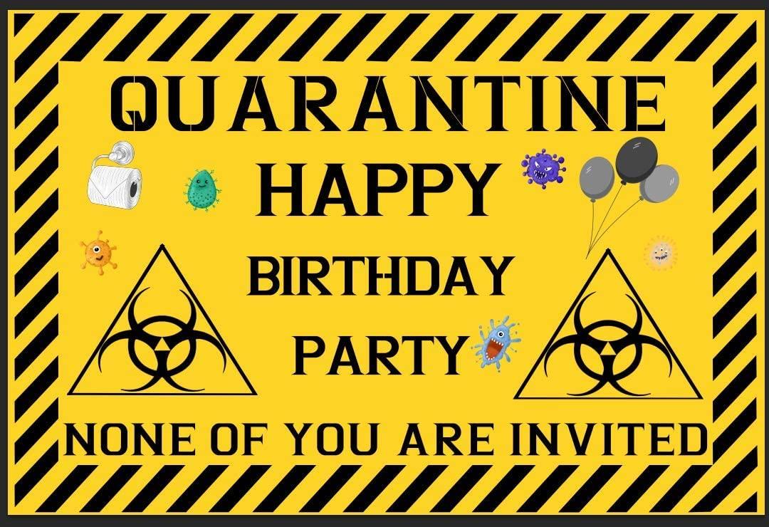 Gyothrig Quarantine Birthday Party Decorations Supplies,Banner Backdrop for Birthday Decor, Happy Birthday Banner No 1