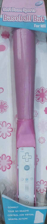 Soft Foam Baseball Bat for Wii - Pink