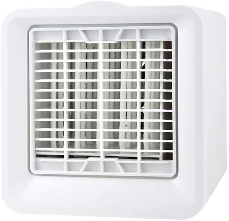 Mini 3 in 1 Air Conditioner Fan,Evaporative Cooler with 3 Speeds for Home Office,Portable Air Cooler White 6x6x6inch
