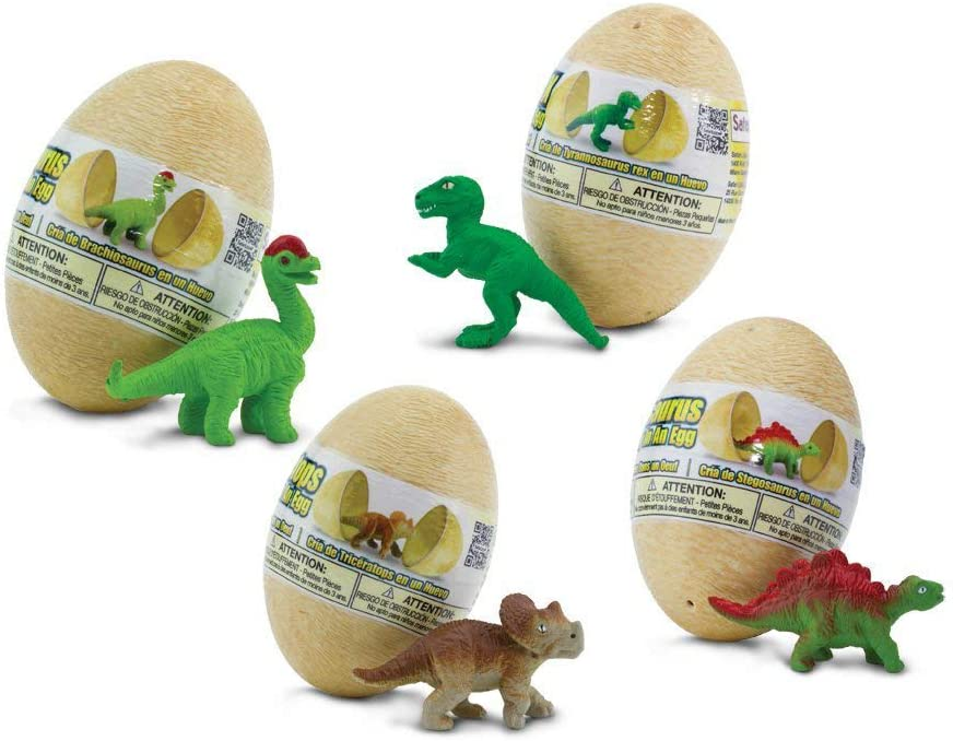 Safari S90075 Wild Prehistoric World Dino Baby Eggs Set Miniature