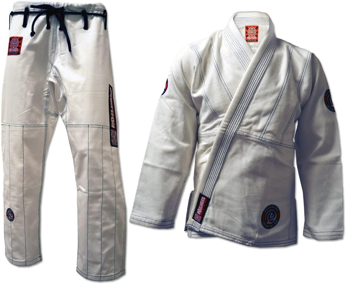 ROLL HARD Brand Brazilian Jiu Jitsu Kimonos - White