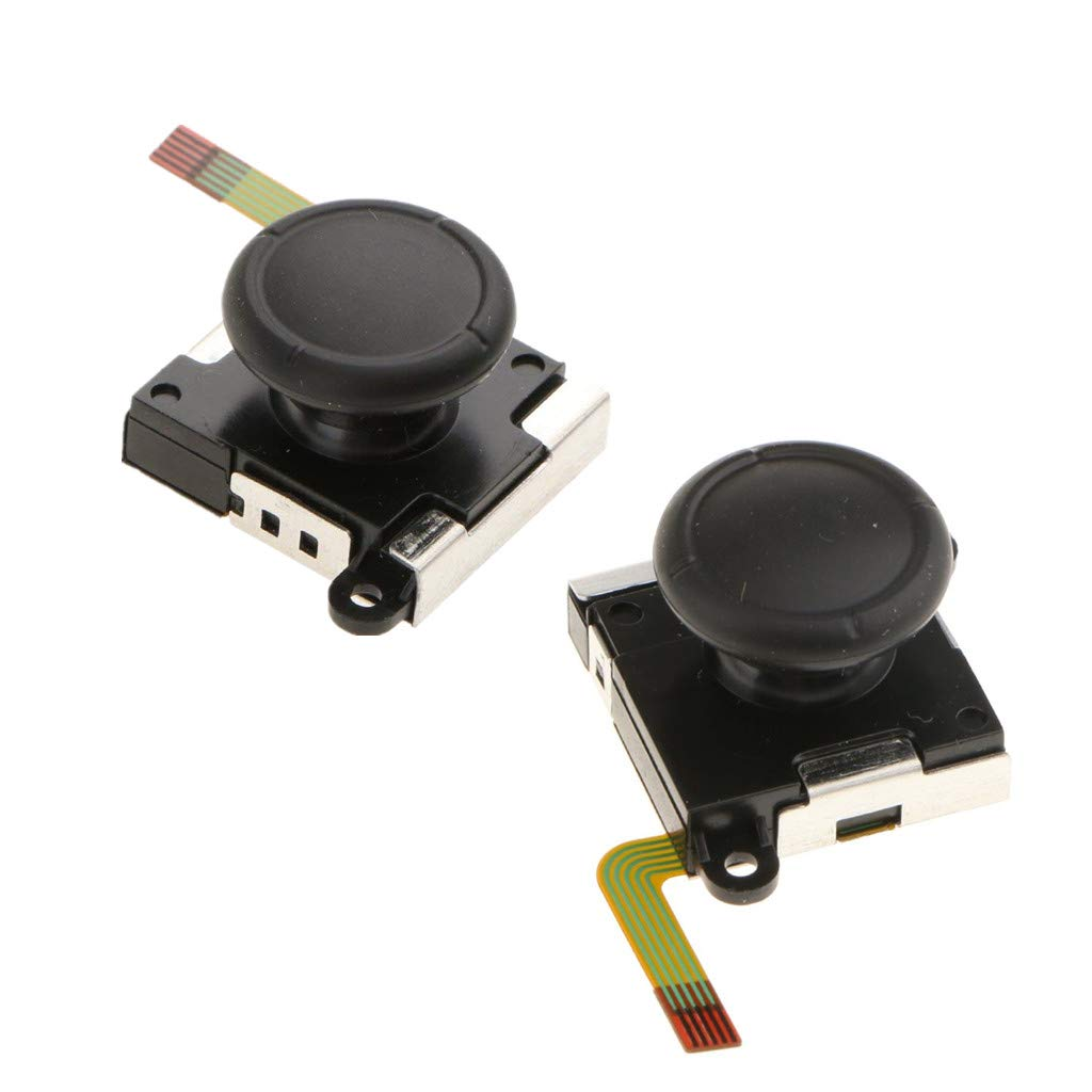 2 Pieces 3D L/R Analog Joystick Controller Analog Sensor Rocker Stick suit for Nintendo Switch Controller Joy-con Repair Accessories