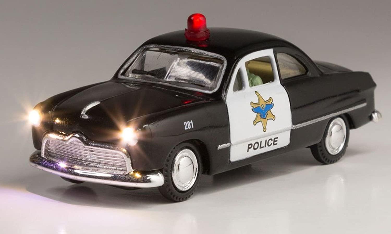 WOODLAND SCENICS JUST PLUG VEHICLES POLICE CAR o gauge