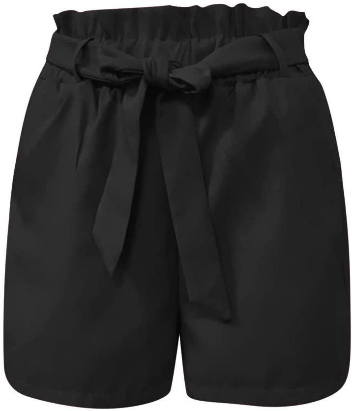 New Bow Shorts, Thenlian Fashion 2019 Woman Fashion Shorts Sexy Summer Woman Short Pants(M, Black)