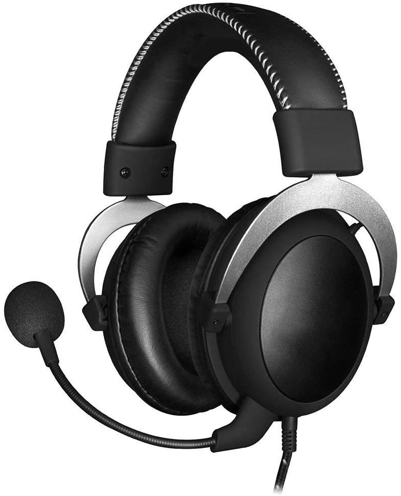 LBAFS Gaming Headset - 53mm Drive Unit Comfortable 3.5mm Professional Over-Ear Gaming Headphones with Detachable Noise-Canceling Microphone