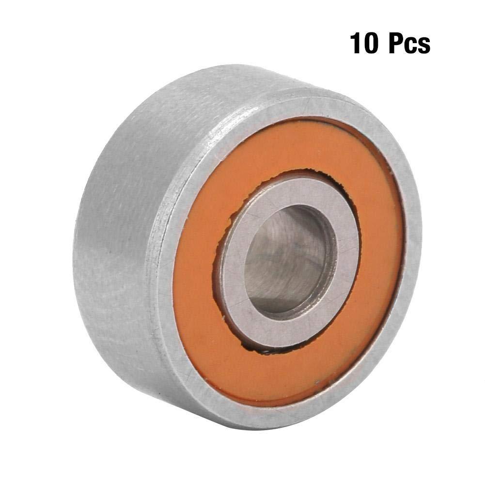 Hybrid Ceramic Bearing,1pc Stainless Steel Hybrid Ceramic Fishing Reel Shaft Bearing 3x10x4mm