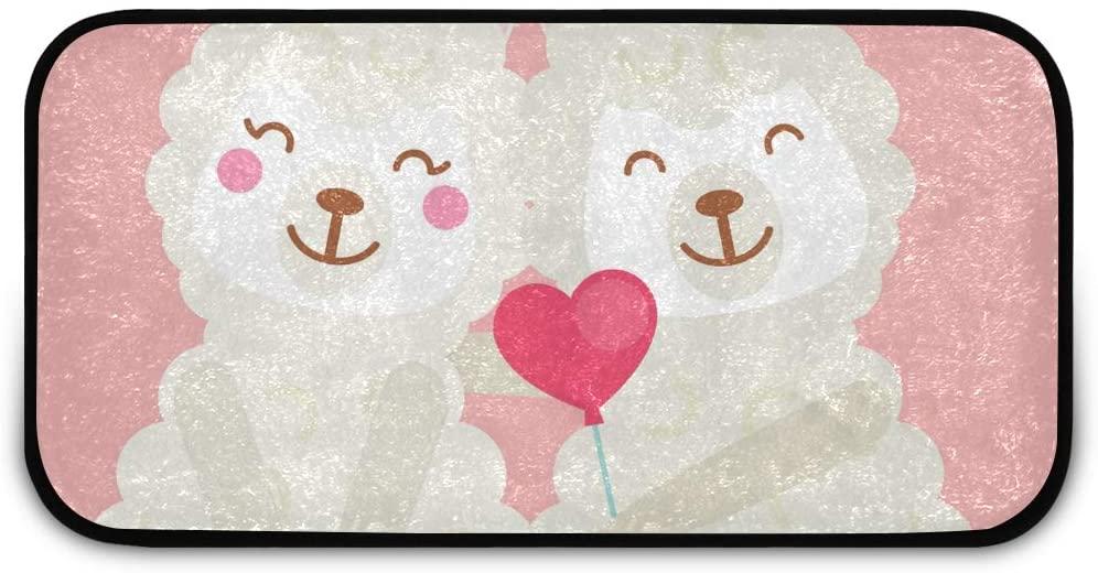 Rectangle Shaggy Rug Floor Mat for Kids Valentine Animal Striped Anti-Slip Rug Rectangle Carpet Play Mat