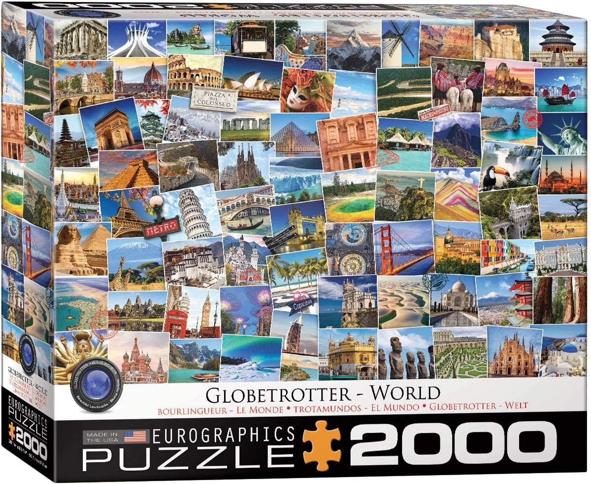 EuroGraphics World Globetrotter 2000-Piece Puzzle