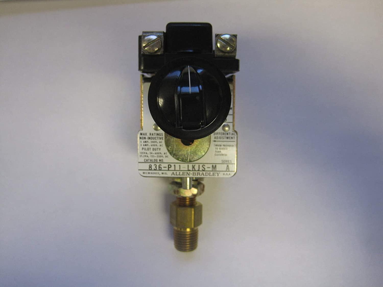ALLEN BRADLEY 836-P11-LKJS-M Pressure 600V AC MAX 5 AMP MAX, Switch