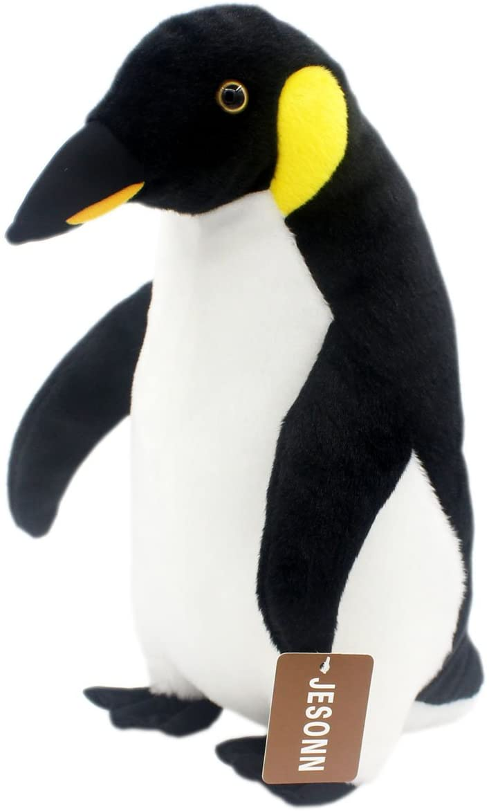 Jesonn Realistic Soft Plush Animals Toys Stuffed Penguin for Kids' Pillow and Gifts,15