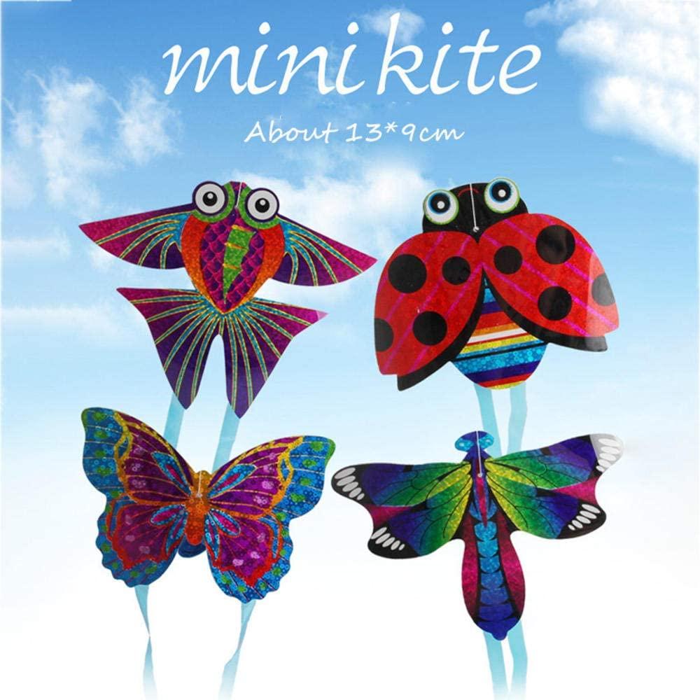 Generic Brands 1 PC Mini Flying Kite Cartoon Kids Funny Toys Animal Plane Kite Finger Toys Baby Educational Toys for Children Gifts 13X9 cm
